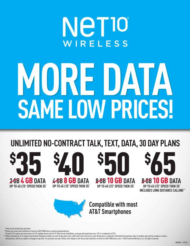 Net 10 Plans >> Net 10 Vzw At T Plans World O Wireless